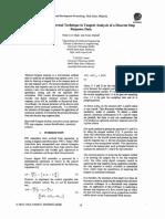 Tangent Analysis of a discreet step response