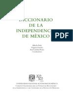 Cronologia en Diccionario de La Indepen