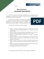 Perfil Ocupacional Relaciones Industriales