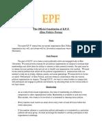 The Constitution of E.P.F. (Elon Politics Forum)
