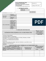 Formato Planeacion Seguimiento y Evaluacion Etapa Productiva