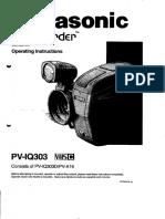 Panasonic Palmcorder Instructions