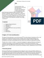 Greek Mathematics - Wikipedia, The Free Encyclopedia