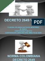 Decreto 2649 vs Niif