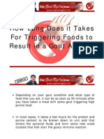 How Long Does It Takes for Triggering Foods to Result in a Gout Attack?