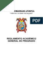 Reglamento Academico General de Pregrado Aprobado