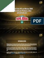 Estudio Fans NFL en Mexico 2015