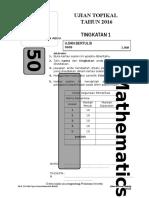 Math Ujian Topikal 2 Form 1