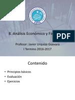 8. Análisis Económico y Financiero (2016 -1T)