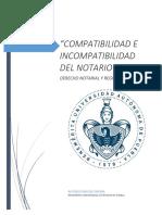 Compatibilidad e Incompatibilidad De los Notarios