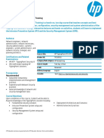 HP TippingPoint IPS ATP Security Training Data Sheet_Virtual