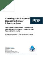 Creating a Bulletproof Citrix Licensing Server Infrastructure