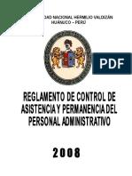 Regalmento Control de Asistencia y Permanencia Pers.adm