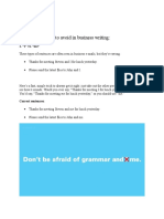Common Mistakes to Avoid in Business Writing