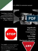 Signo LingÜítico y Signo Cultural. Umberto Eco