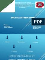 Boletín Informativo presupuesto1