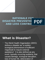 Disaster Prevention and Loss Controll