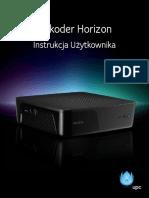 Upc Instrukcja Uzytkownika Dla Dekodera Horizon