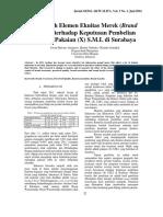 Pengaruh Elemen Ekuitas Merek (Brand Equity) terhadap Keputusan Pembelian Produk Pakaian (X) S.M.L di Surabaya.pdf