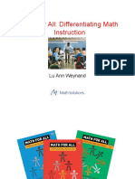 09 Nctm Differentiating Instruction Talk1