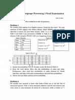 Final Examination 2014