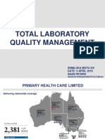 Total Laboratory Quality Management