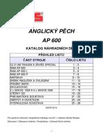Anglický Pěch AP 600 - Katalog ND