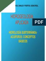 Hidrogeología APLICADA- TEMA1 Conceptos Básicos