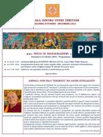 Programmi Centro Mandala Milano Ottobre Dicembre 2016