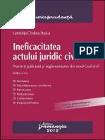 Ineficacitatea Actului Juridic Civil p.j. 2012