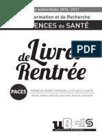 PACES Livret Rentree
