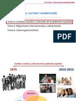 TEMA 4 (Cambios Sociales y Culturales de La Población Española)