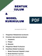 Nota 3 (Rekabentuk & Model Kurikulum)