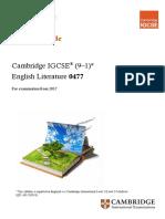 326161 Cambridge Learner Guide for English Literature 9-1-0477