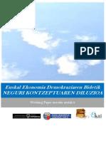 Euskal Ekonomia Demokraziaren Bidetik. NEGURI KONTZEPTUAREN DILUZIOA