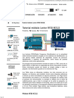 Tutorial Módulo Lector RFID RC522