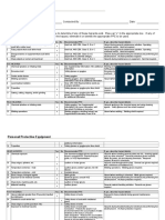 PPE Hazard Assessment