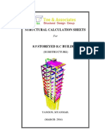 Structural Calculation Foundation