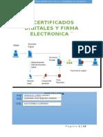 Certificados Digitales y Frimas Electronicas