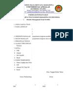 Formulir Pendaftaran Dan Formulir Biodata Peserta