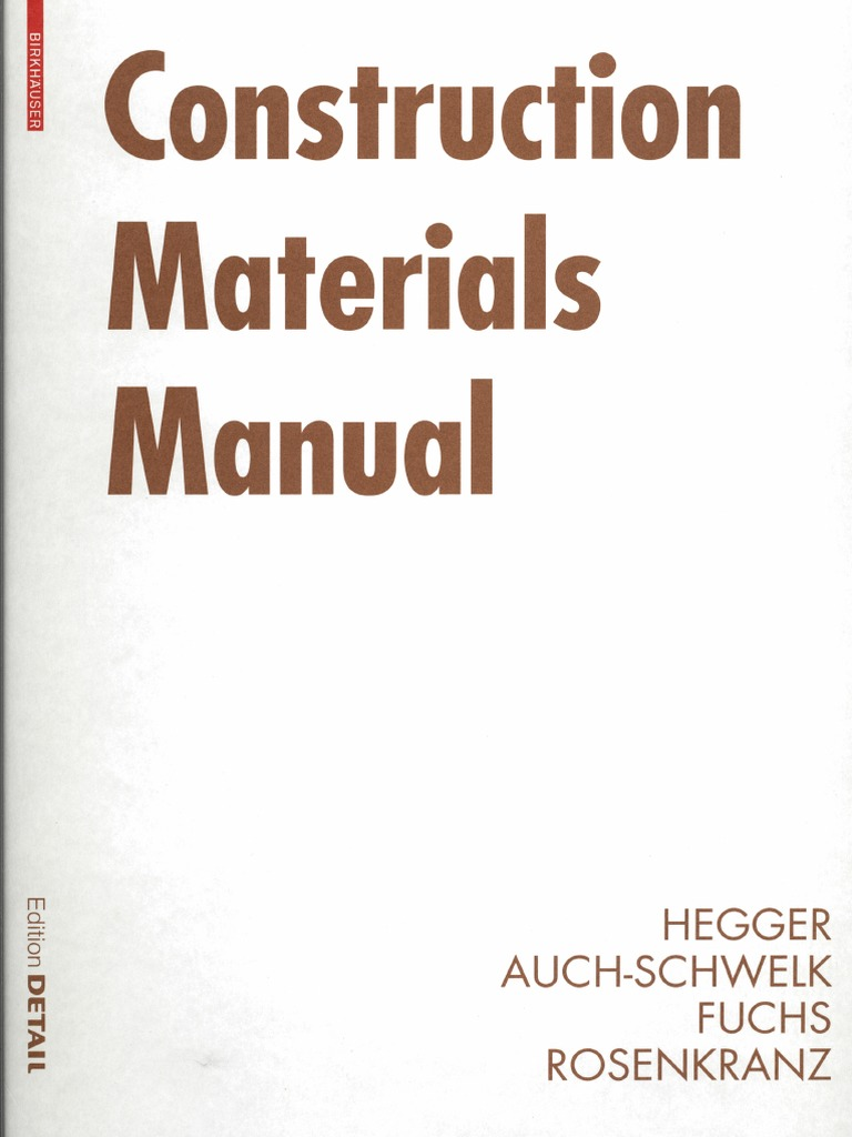 edition detail construction materials manual building materials concrete