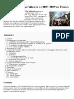 Mouvements Universitaires de 2007-2009 en France — Wikipédia