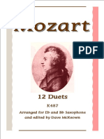 Dave McKeown - Mozart - 12 Duets for Eb and Bb Saxophone