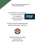 Ministerio de Trabajo Entidad Territorial Risaralda y Su Metodo de Vinculacion Laboral