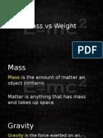 mass vs weight 2