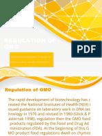 Regulation of Gmo