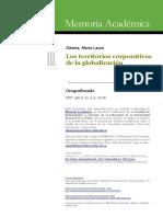 6 Los Territorios Corporativos de La Globalización. ML Silveira 2007