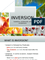 Inversion in Questions, Conditionals, Comparisons
