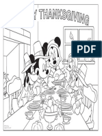 Mickey Mouse Thanksgiving Coloring Pages Printable 1010