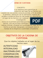 Cadena de Custodia Presentacion